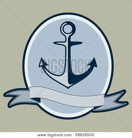 Vintage style nautical anchor and text design