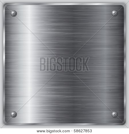 Vector square steel plate with screws