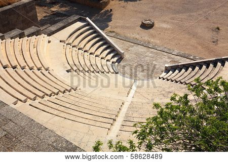 Antique Theatre On The Island Of Rhodes