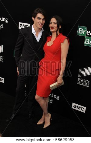 RJ Mitte and Jodi Lyn O'Keefe at the
