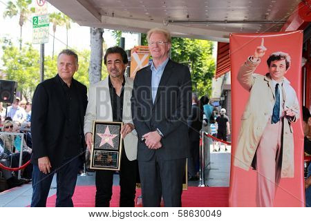 Paul Reiser, Joe Mantegna, Ed Begley Jr. at the Peter Falk Star on the Hollywood Walk of Fame Ceremony, Hollywood, CA 07-25-13