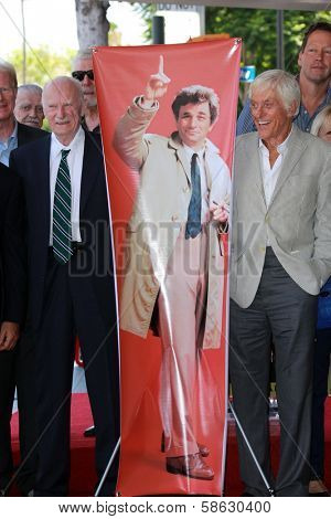 Dabney Coleman and Dick Van Dyke at the Peter Falk Star on the Hollywood Walk of Fame Ceremony, Hollywood, CA 07-25-13