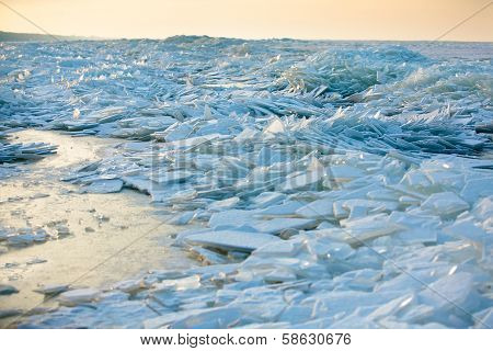 Baltic sea winter landscape