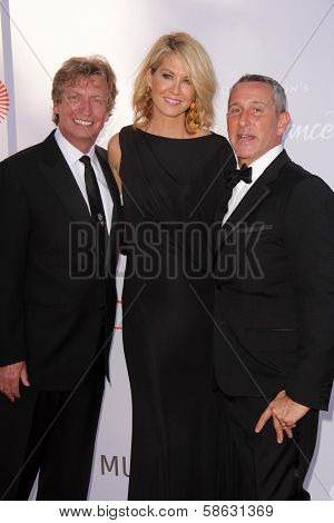 Nigel Lythgoe, Jenna Elfman and Adam Shankman at the 3rd Annual Celebration of Dance Gala presented by the Dizzy Feet Foundation, Dorothy Chandler Pavilion, Los Angeles, CA 07-27-13