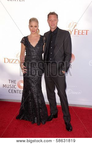 Christina Applegate and Martyn LeNoble at the 3rd Annual Celebration of Dance Gala presented by the Dizzy Feet Foundation, Dorothy Chandler Pavilion, Los Angeles, CA 07-27-13