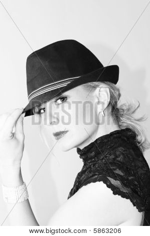 Woman In Fedora Hat