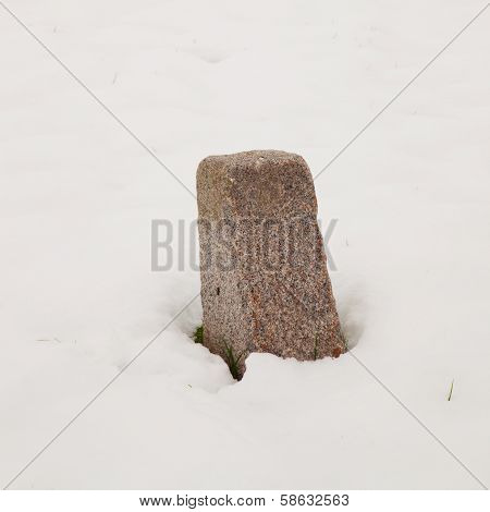 Milestone In The Snow