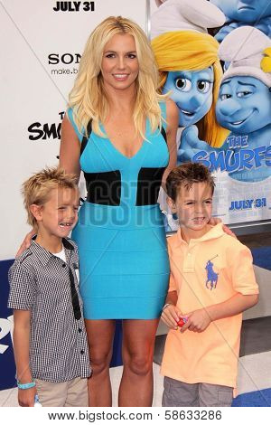 Britney Spears, Sean Preston Federline and Jayden James Federline at the