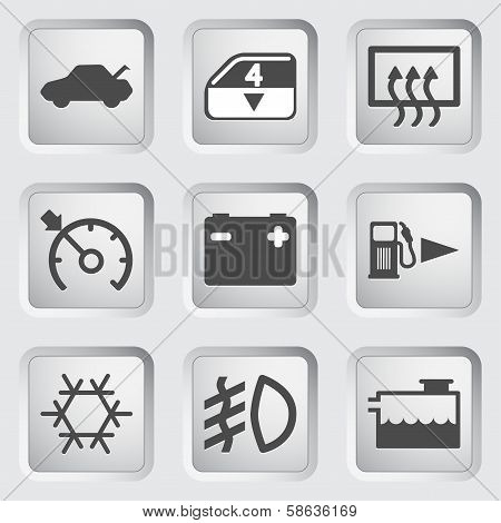 Car Dashboard icons