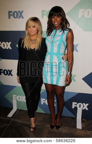Demi Lovato and Kelly Rowland at the Fox All-Star Summer 2013 TCA Party, Soho House, West Hollywood, CA 08-01-13