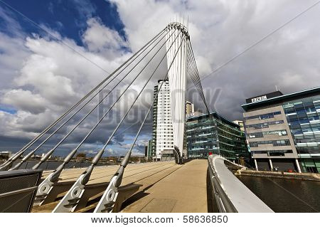 The MediaCityUK in Manchester England.