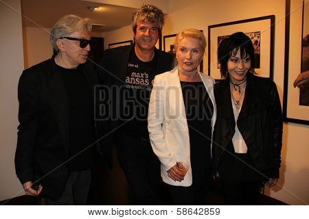 Chris Stein, Clem Burke, Deborah Harry and Joan Jett at the