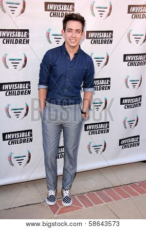 Kevin McHale at the Invisible Children Fourth Estate's Founders Party, UCLA, Westwood, CA 08-10-13