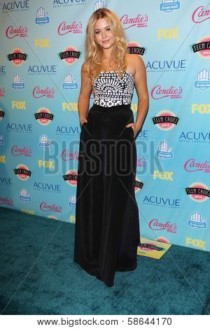 Sasha Pieterse at the 2013 Teen Choice Awards Press Room, Gibson Amphitheatre, Universal City, CA 08-11-13