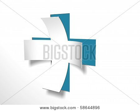 White Cross With Blue Back