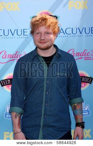 Ed Sheeran at the 2013 Teen Choice Awards Arrivals, Gibson Amphitheatre, Universal City, CA 08-11-13