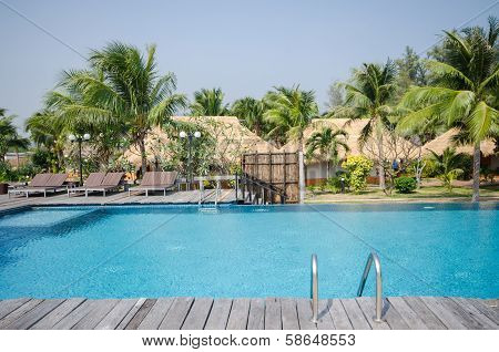 Swimming Pool In Tropical Style Resort
