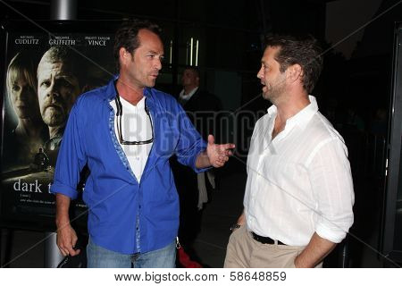 Luke Perry and Jason Priestley at the