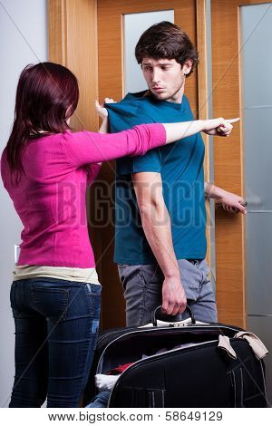 Woman Imploring Her Boyfriend From Home