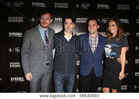 Joe Swanberg, Ron Livingston, Jake Johnson and Olivia Wilde at the