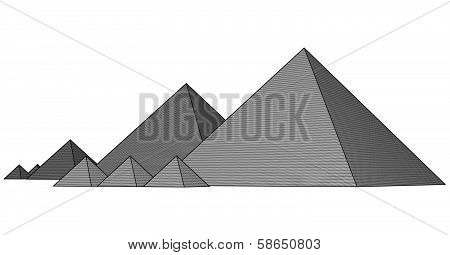 Pyramids From The Giza Plateau Vector