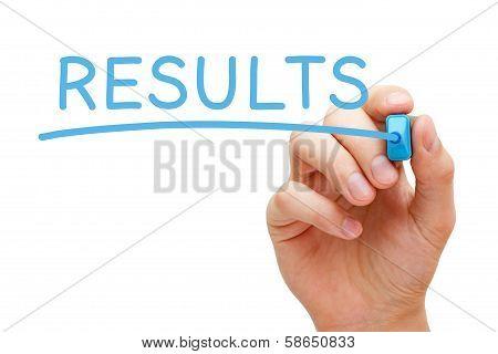 Results Blue Marker