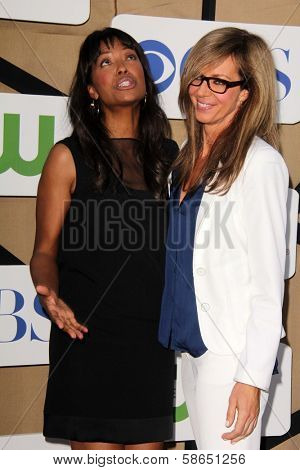 Aisha Tyler, Allison Janney at the CBS, Showtime, CW 2013 TCA Summer Stars Party, Beverly Hilton Hotel, Beverly Hills, CA 07-29-13