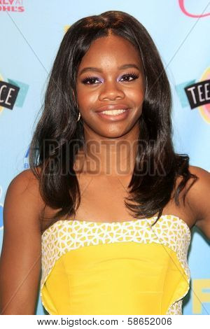 Gabby Douglas at the 2013 Teen Choice Awards Press Room, Gibson Amphitheatre, Universal City, CA 08-11-13