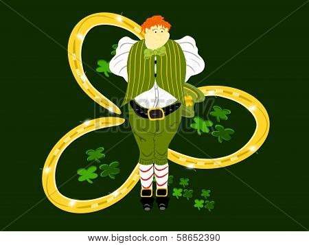leprechaun large three horseshoes