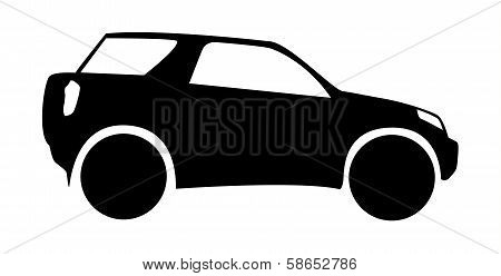 Silhouette Of Offroad Car