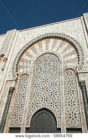 Decorative Mossaic Surrounding Door Of The Mosque