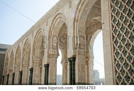 The Courtyard Of The El Hassam Ii Mosque