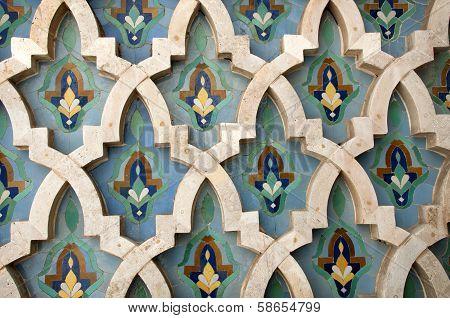 Mosaic At The El Hassam Mosque In Casablanca
