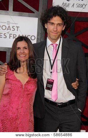 James Franco's mother Betsy Lou Franco and brother Tom Franco at the Comedy Central Roast Of James Franco, Culver Studios, Culver City, CA 08-25-13
