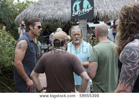 Chris Browning, William Forsythe, Andy Mackenzie on set of