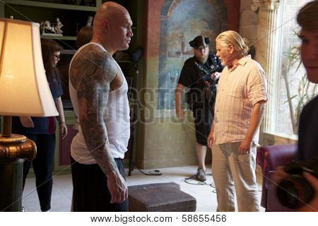 William Forsythe, Krzysztof Soszynski on set of