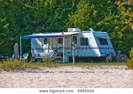 Travel Trailer Campsite