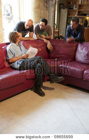 Michael Biehn, Loris Curci, Patricio Valledares, Shawn Welling on set of