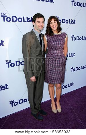 Bill Hader and Maggie Carey at