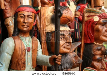 Western native american carvings