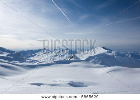 Swiss Alps in winter. Davos