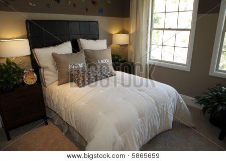 Modern luxury home bedroom.