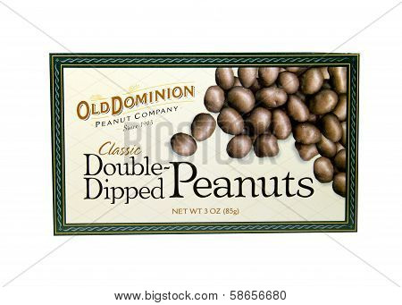 Box Of Old Dominion Dipped Peanuts