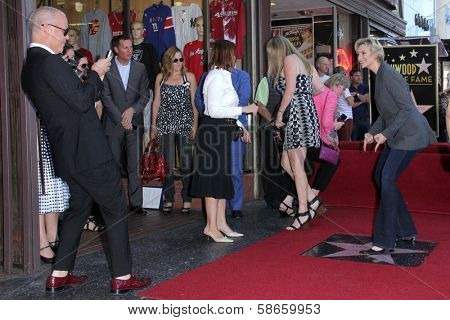 Ryan Murphy and Jane Lynch at the Jane Lynch Star on the Hollywood Walk of Fame Ceremony, Hollywood, CA 09-04-13