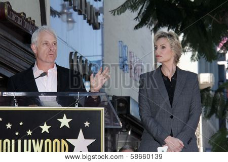 Christopher Guest and Jane Lynch at the Jane Lynch Star on the Hollywood Walk of Fame Ceremony, Hollywood, CA 09-04-13