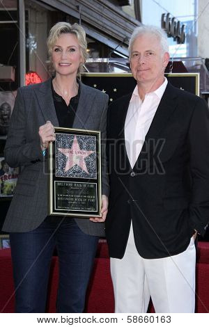 Jane Lynch and Christopher Guest at the Jane Lynch Star on the Hollywood Walk of Fame Ceremony, Hollywood, CA 09-04-13