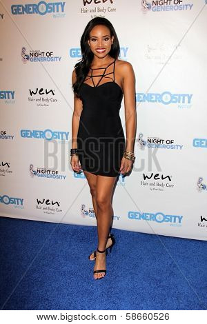 Meagan Tandy at the 5th Annual Night of Generosity, Beverly Hills Hotel, Beverly Hills, CA 09-06-13