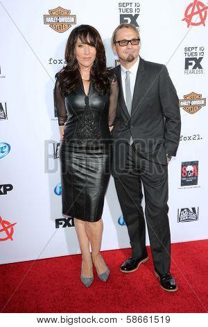 Katey Sagal and Kurt Sutter at the