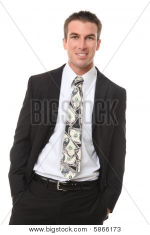 Handsome Man With Money Tie