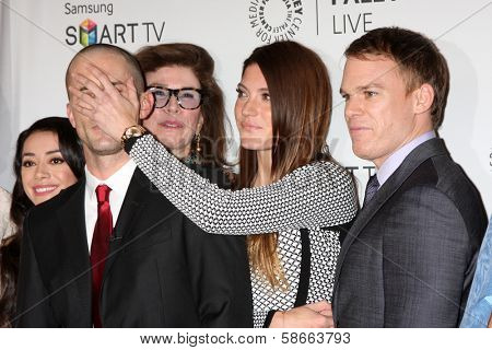 Desmond Harrington, Jennifer Carpenter and Michael C. Hall  at the PaleyFest Fall Previews:  Fall Farwell -